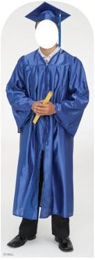 Male Graduate Blue Cap & Gown