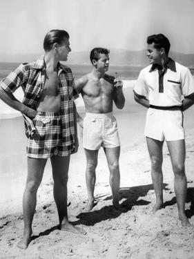 Male Models Pose in Jantzen's 1952 Men's Bathing Suits