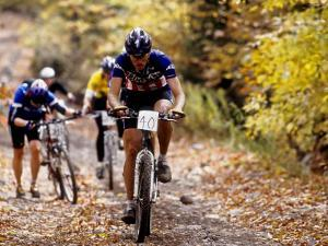Male Mountain Biker Competing in a Race 1993 NY State Championships