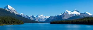 Maligne Lake with Canadian Rockies at Jasper National Park, Alberta, Canada