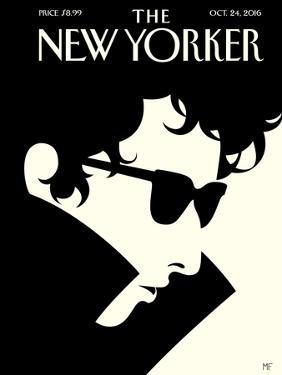 Bob Dylan – The New Yorker Cover – October 24, 2016 by Malika Favre