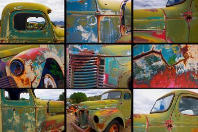 Abandoned trucks poster, Chloride, New Mexico by Mallorie Ostrowitz