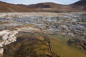 Chile, Andes Mountains, Atacama Desert, El Tatio Geysers. Fumaroles by Mallorie Ostrowitz