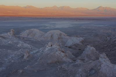 Moon Valley in the Atacama Desert as the Sun Is Setting by Mallorie Ostrowitz