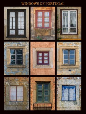 This poster captures interesting windows found throughout Portugal by Mallorie Ostrowitz