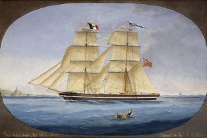 Maltese Barquentine Ardita, Captain Salvatore Attard, Oil on Canvas