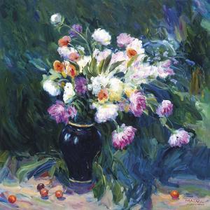 Still Life with Blue Vase by Malva