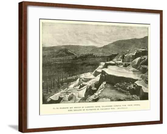 Mammoth Hot Springs of Gardiner's River--Framed Giclee Print