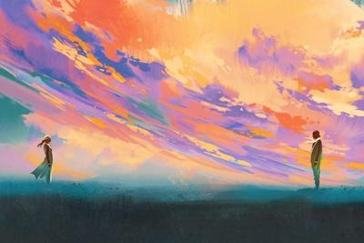 https://imgc.allpostersimages.com/img/posters/man-and-woman-standing-opposite-of-each-other-against-colorful-sky-illustration-painting_u-L-Q1ALORD0.jpg?artPerspective=n