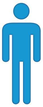 Man Bathroom Symbol Lifesize Standup