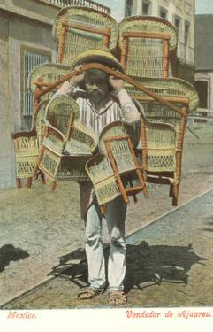 Man Carrying Chairs, Mexico