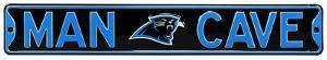 Man Cave Carolina Panthers Steel Sign