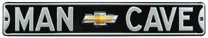 Man Cave Chevy Bowtie Steel Sign
