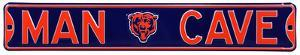 Man Cave Chicago Bears Steel Sign