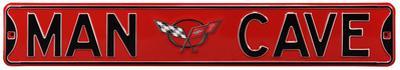Man Cave Corvette C5 Steel Sign