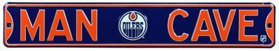 Man Cave Edmonton Oilers Steel Sign