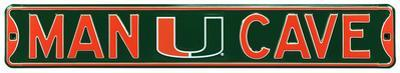 Man Cave Miami Hurricanes Steel Sign