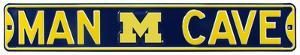 Man Cave Michigan Wolverines Steel Sign