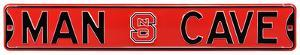 Man Cave NC State Steel Sign
