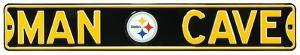 Man Cave Pittsburgh Steelers Steel Sign