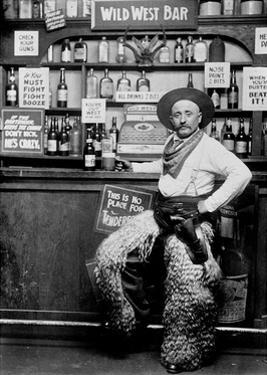 Man Dressing Up as a Cowboy in a Bar