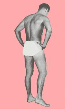 Man in Jockey Shorts with Pink Background