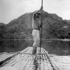 Man on a Raft, Kingston, Jamaica, 1931