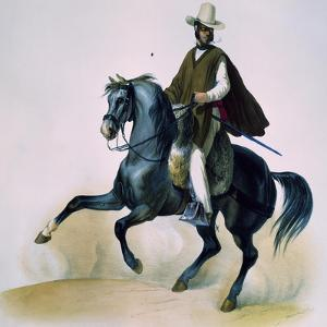 Man on Horseback from Voyages of Louis M a Du Petit-Thouars, 1837-39