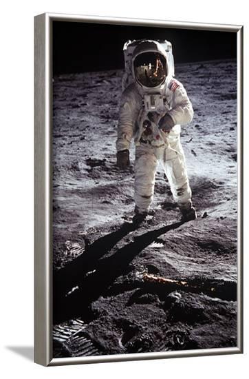 Man on the Moon--Framed Masterprint