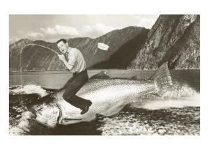 Man Riding Giant Fish