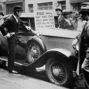 Man Selling His Car, Following the Wall Street Crash of 1929, 1929