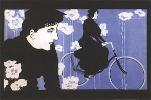Man Watching Woman on Bike