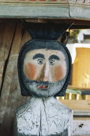 Man, Wood Carving, Petjavesi Wooden Church (Unesco World Heritage Site, 1994), Finland