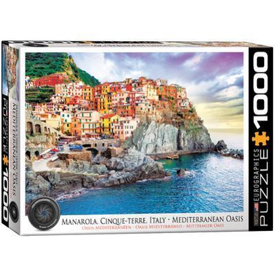 Manarola Cinque Terre Italy Mediterranean Oasis 1000 Piece Puzzle