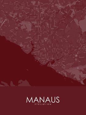 Manaus, Brazil Red Map