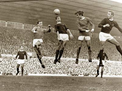 Manchester United vs. Arsenal, Football Match at Old Trafford, October 1967