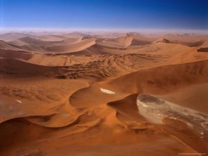 Huge Sand Dunes in Namib-Naukluft Desert Park, Sossusvlei, Namibia by Manfred Gottschalk
