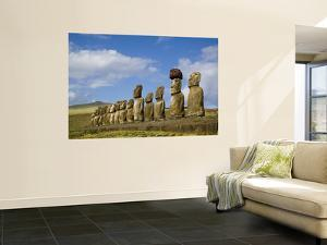 Moai Statues at Ahu Tongariki by Manfred Gottschalk