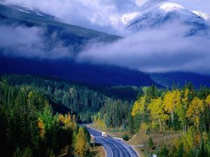 Yellowhead Highway, Mt. Robson Provincial Park, Rocky Mountains, Canada by Manfred Gottschalk