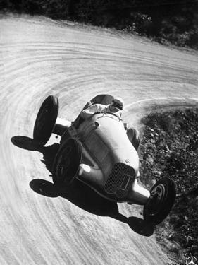 Manfred Von Brauchitsch Driving Mercedes-Benz W25 Grand Prix Car, 1934