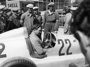 Manfred Von Brauchitsch in a Mercedes-Benz, French Grand Prix, Montlhéry, 1934