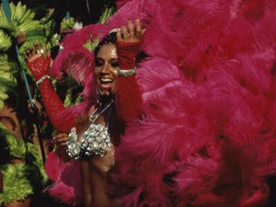 Mangulera Samba Dancer, Rio Carnaval Rio de Janiero, Brazil