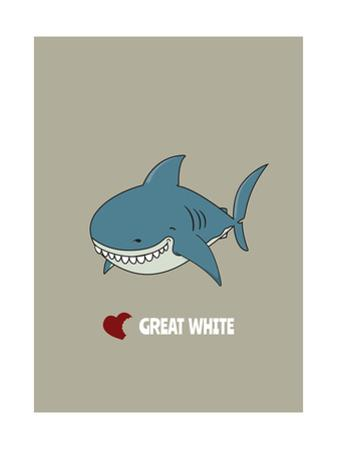 Love Great White Shark by mangulica