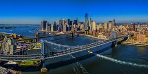 Manhattan Bridge at sunrise, New York City, New York State, USA