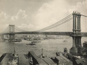 Manhattan Bridge Crossing the East River, New York