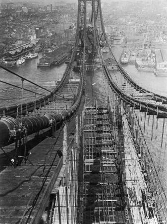 Manhattan Bridge under Construction
