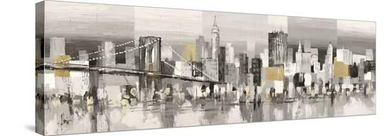 Manhattan & Brooklyn Bridge-Luigi Florio-Stretched Canvas Print