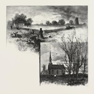 Manitoba: a Half-Breed Farm (Top), Kildonan Church (Bottom), Canada, Nineteenth Century