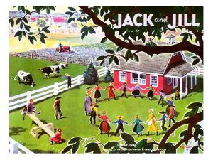 Amish Children - Jack and Jill, October 1944 by Manning de V. Lee