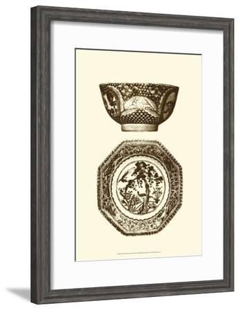 Manor Porcelain in Brown II--Framed Art Print